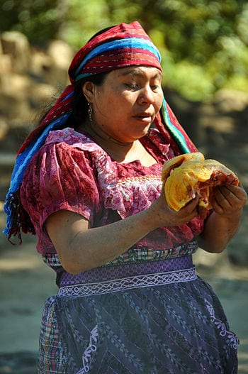 English: guatemala iximche woman mayan ritual ...