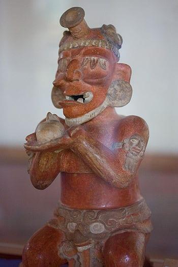 Maya site of Tikal (Guatemala). Ceramic vessel...