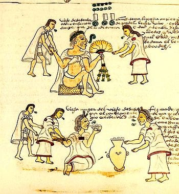 An illustration from Codex Mendoza depicting e...