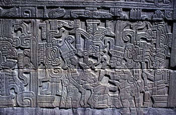 This stone carving from the South Ballcourt at...