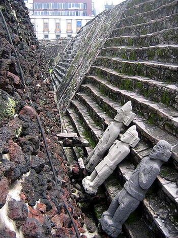 Templo Mayor of Tenochtitlan. Mexico City