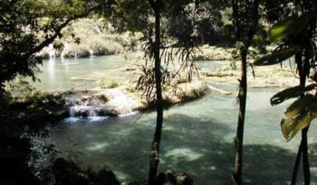Semuc Champey pools in the Cahabòn River, Alta...