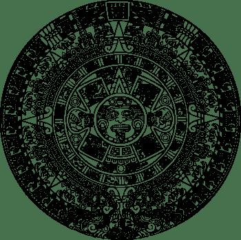 English: The Aztec sun calendar is a circular ...