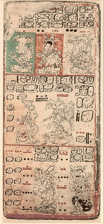Page 9 of the Dresden Codex showing the classi...