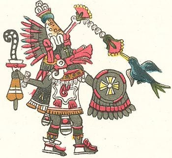 Quetzalcóatl, the Aztec sky god, in reptilian ...