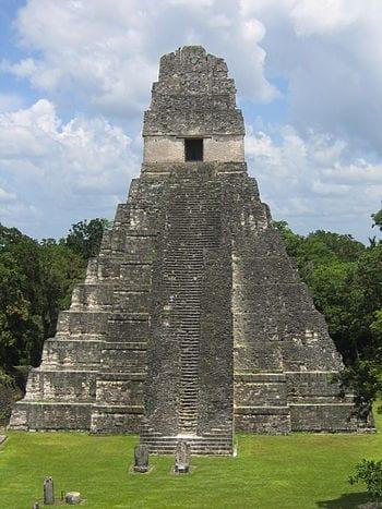 Tikal (Guatemala), temple 1, August 2006